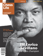 GM Enrico Sevilliano on cover of Chess Life magazine 2008